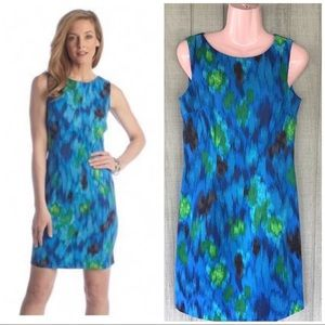 Beautiful Blue Water Color Sheath Dress